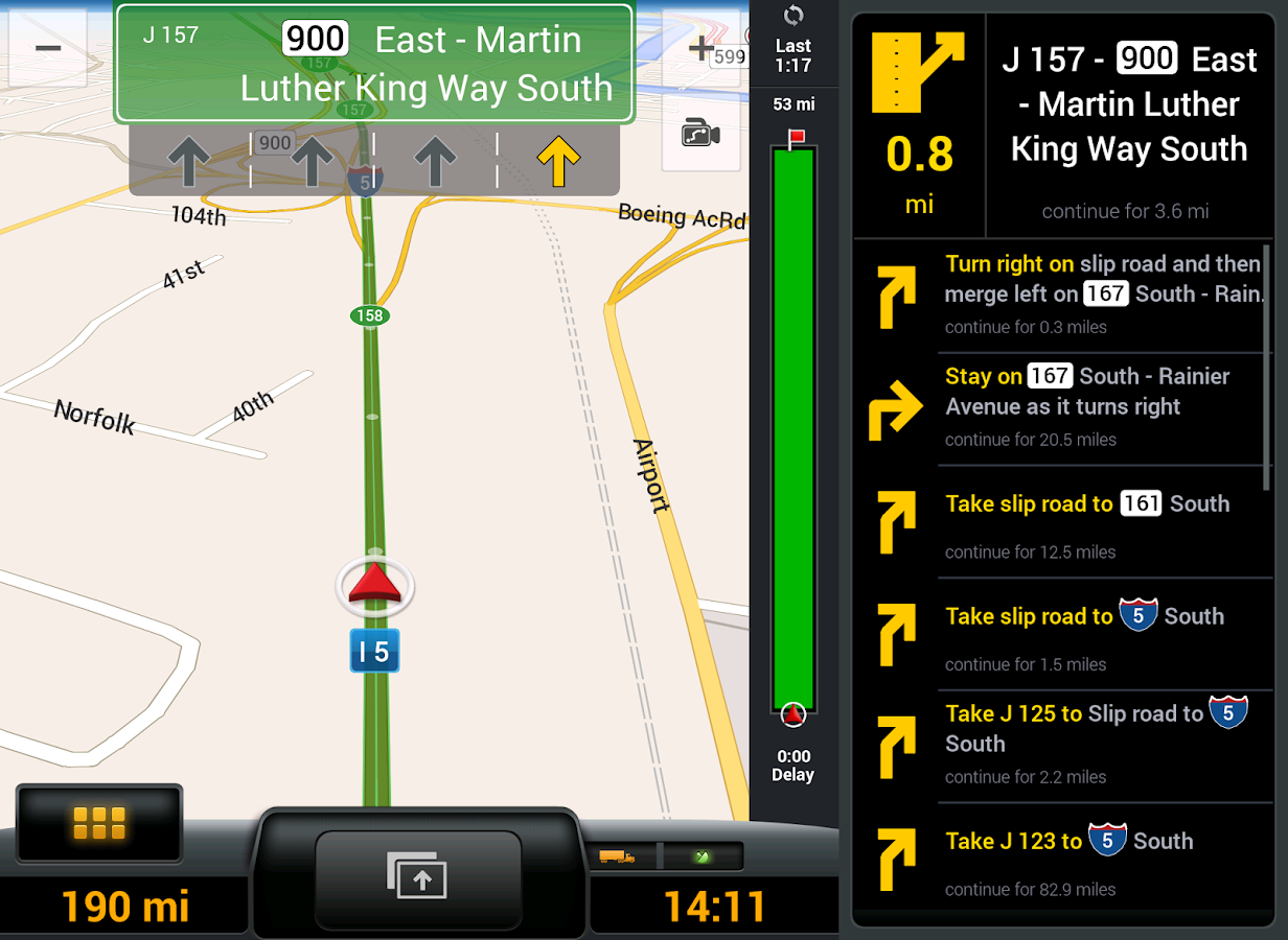 CoPilot Truck USA & CAN - GPS – Screenshot