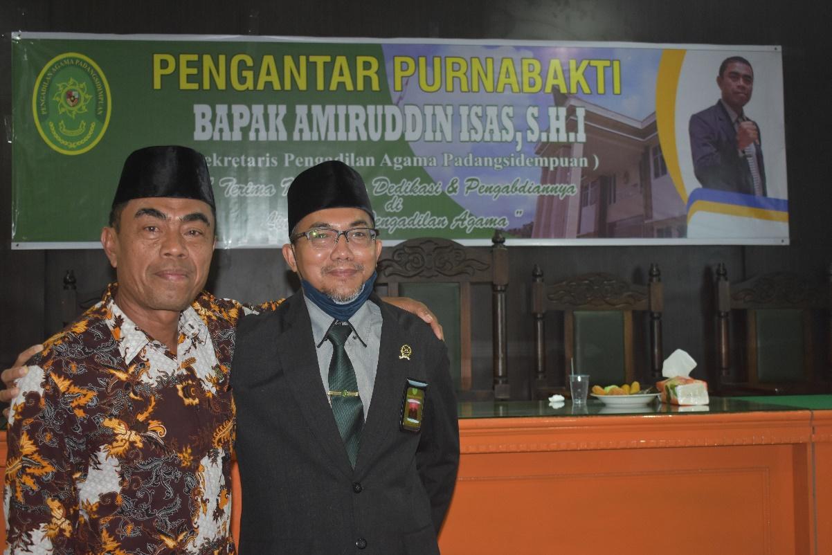 Purnabakti Sekretaris PA Padangsidimpuan, Amiruddin Isas, S.H.I. | (14/6)