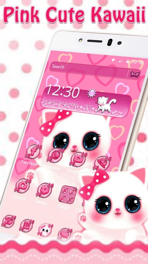 Pink anime kitty android apps on google play pink anime kitty screenshot voltagebd Gallery