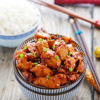 Easy Korean Sticky Chicken.