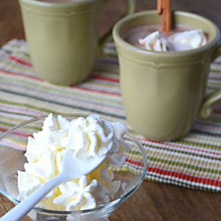 Frozen Peppermint Sugar-Free Whipped Cream
