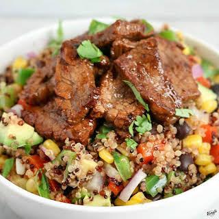 Steak Fajita Quinoa Salad.