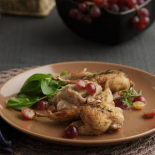 Roasted Quail with Muscadines.