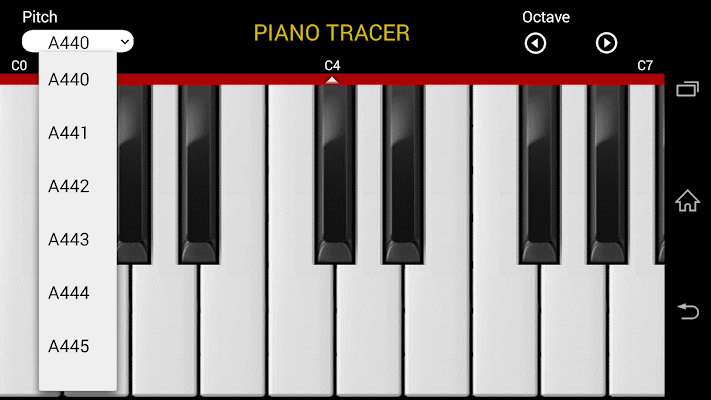 Pitch Changeable! Piano Tracer - screenshot