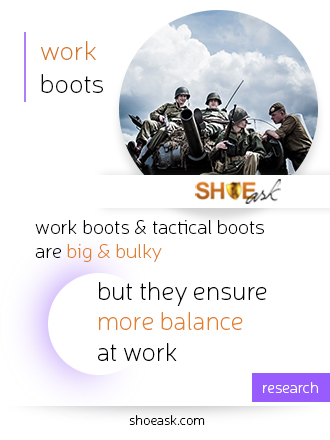 Work boots are heavy, but balanced.