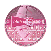 Pink carnations GO Keyboard