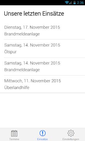 android Feuerwehr Schönaich Screenshot 1