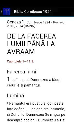 android Biblia Cornilescu 1924 Screenshot 1