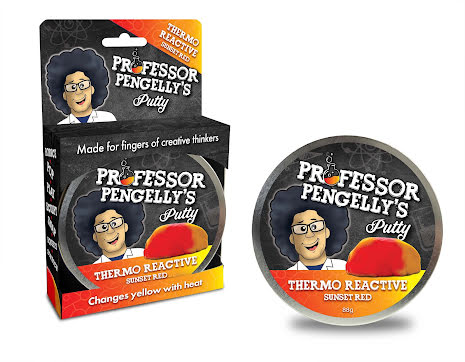 Professor Pengelly's Putty - Thermo Reactive Sunset Red