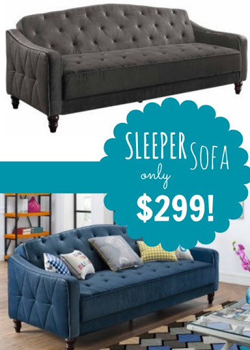BIG Tufted Sleeper Sofa ONLY $...