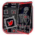 Broken Heart Skeleton Launcher Theme icon
