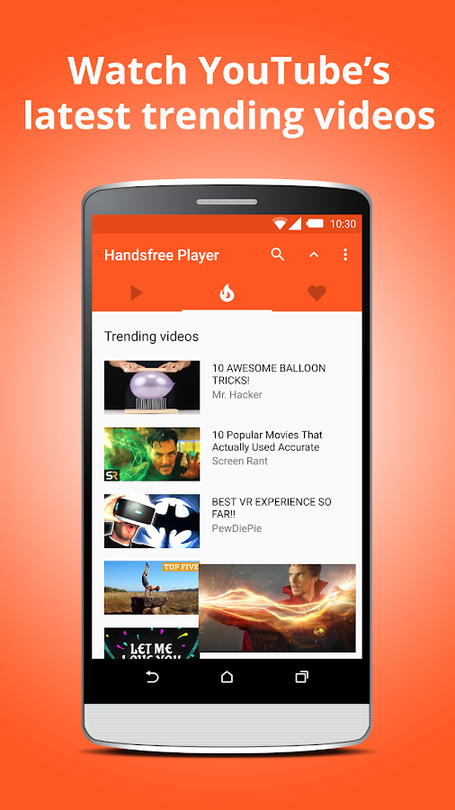 Handsfree Player for YouTube- screenshot