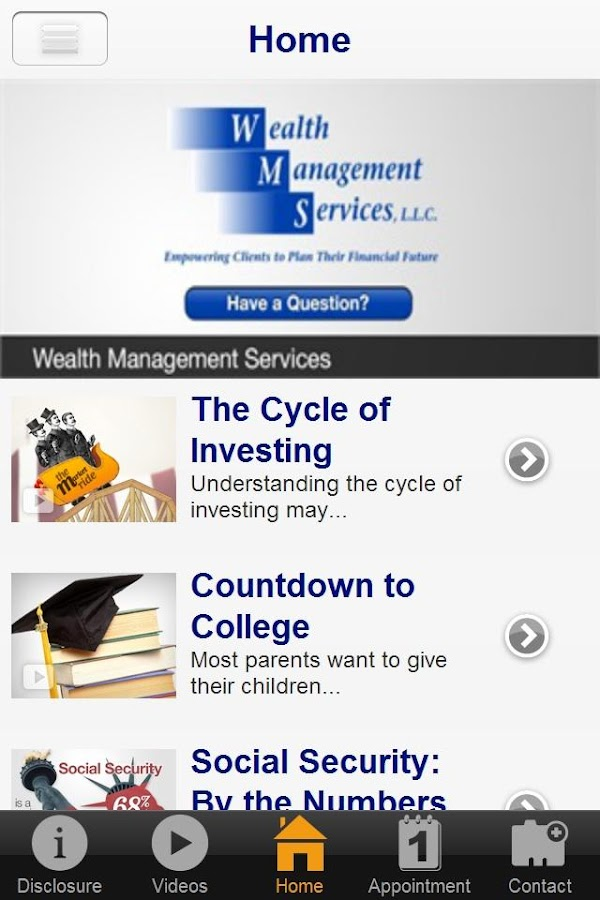 Wealth Management Services- screenshot