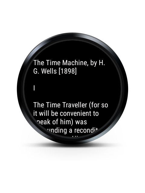 Reader for Android Wear screenshots