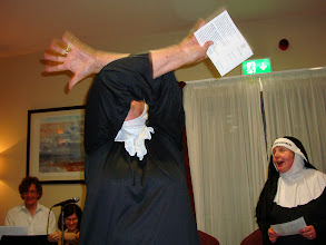Photo: This nun appears to be camera shy but is she really?