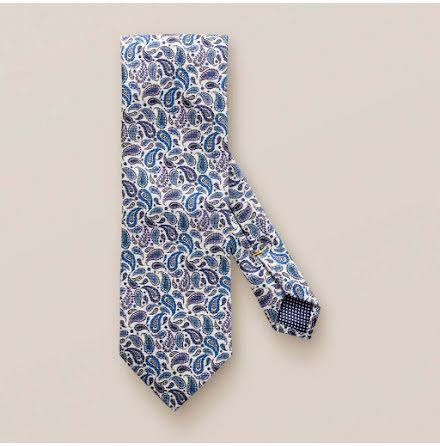 ETON Jazz blue and purple paisley tie