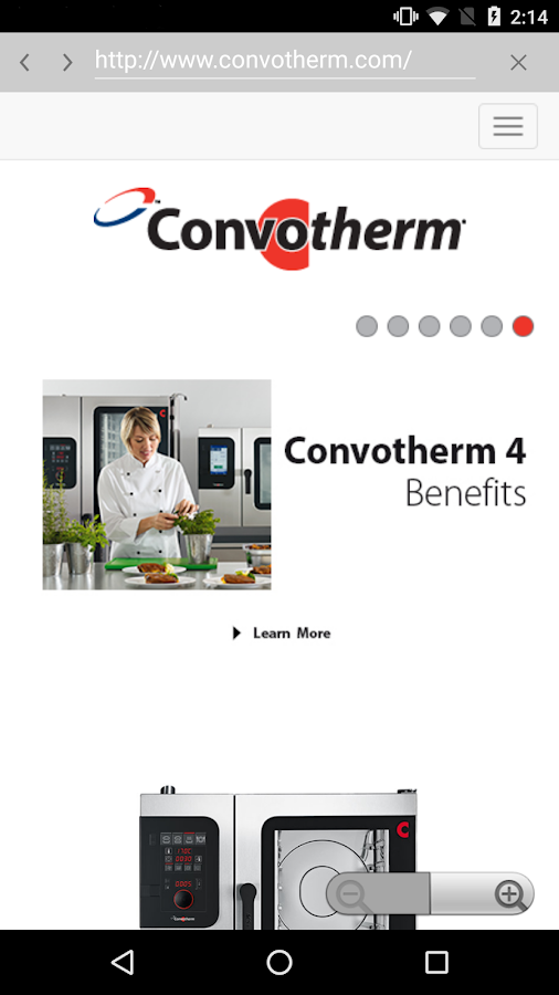 Convotherm 4 easyTouch™ Mobile- screenshot