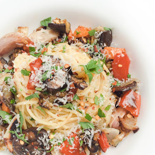 Garlic Roasted Vegetable Pasta.