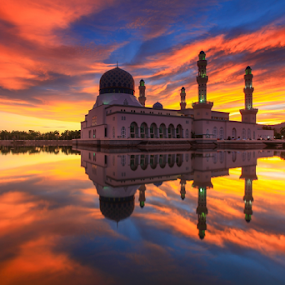 North Borneo City Mosque by Lawrence Chung - Buildings & Architecture Places of Worship ( north borneo, mosque, malaysia, kota, kinabalu, sabah, kota kinabalu city mosque, borneo,  )