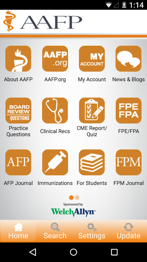 AAFP- screenshot