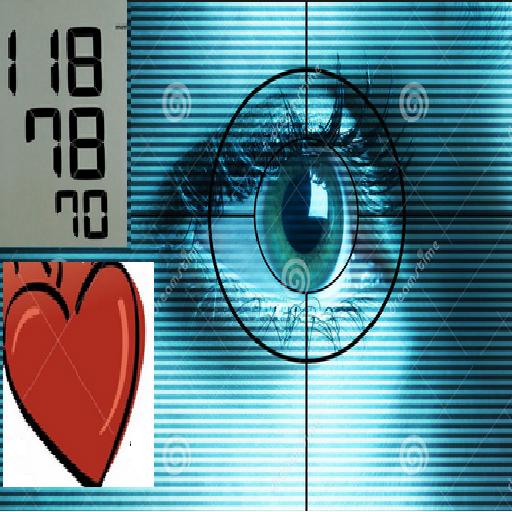 Eye scan blood pressure test