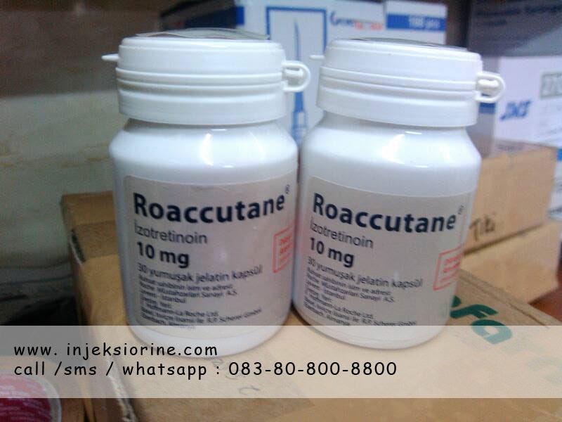 Obat Penghilang Bekas Jerawat Bopeng Hitam Merah Pria Wanita Roaccutane 10 mg