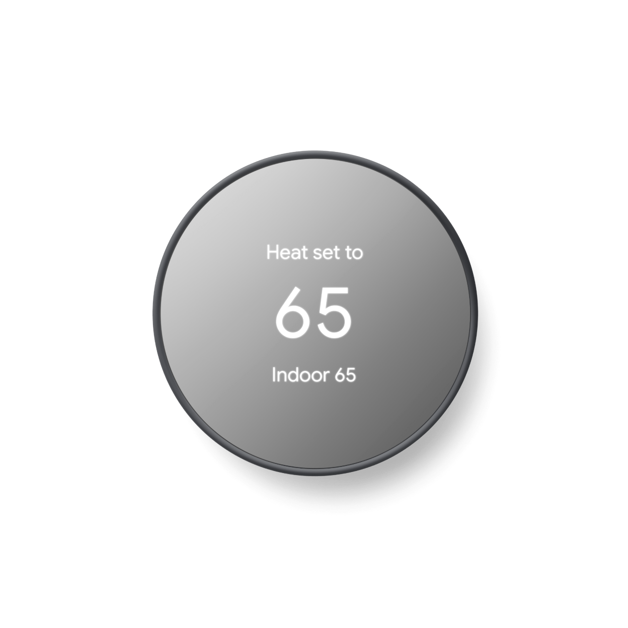 Google - Nest Thermostat - Programmable Smart Wi-Fi Thermostat (2020) - Charcoal