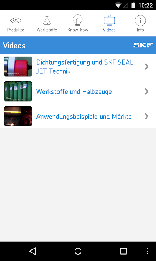 SKF Dichtungen- screenshot