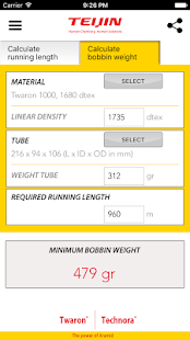 Running length calculator - náhled