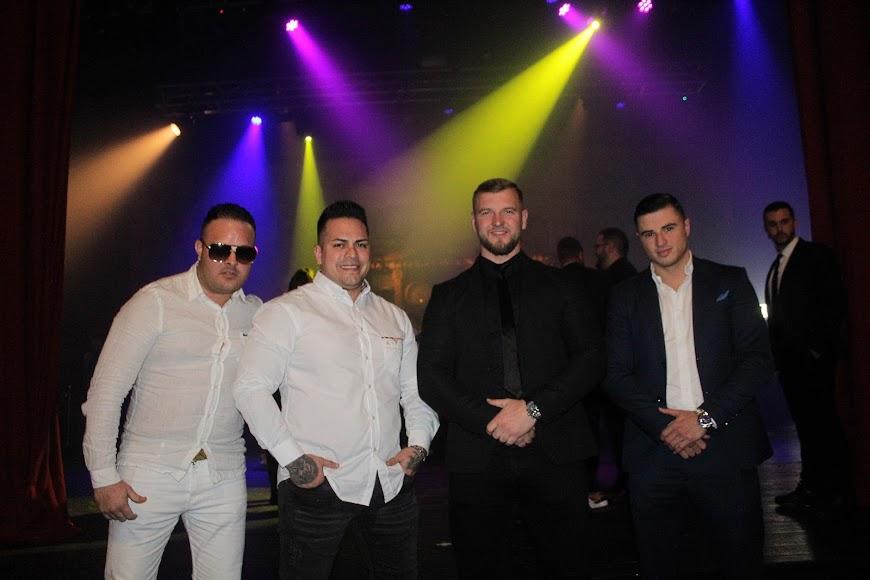 Equipo Los Lobos en la celebración de los Premios de la Noche Almeriense.