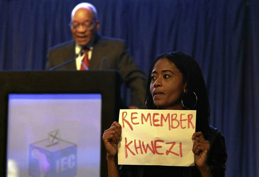 Simamkele Dlakavu, one of four protesters who upstaged President Jacob Zuma's address at the election results announcement in August 2016.