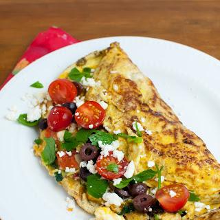 Greek Breakfast Omelet.