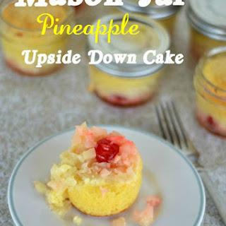 Mason Jar Pineapple Upside Down Cake