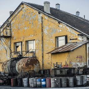 Оld Warehouse by Svetoslava Todorova - Buildings & Architecture Decaying & Abandoned ( old, yelow, varna, warehouse, bulgaria )