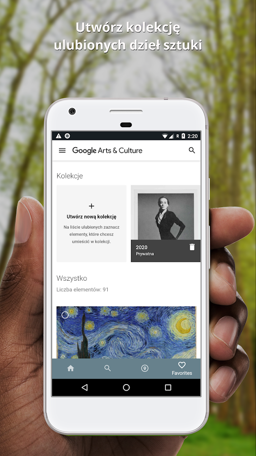 Google Arts & Culture – zrzut ekranu