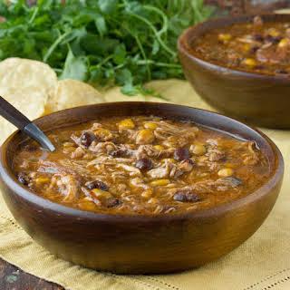 Slow Cooker Chicken Enchilada Soup.