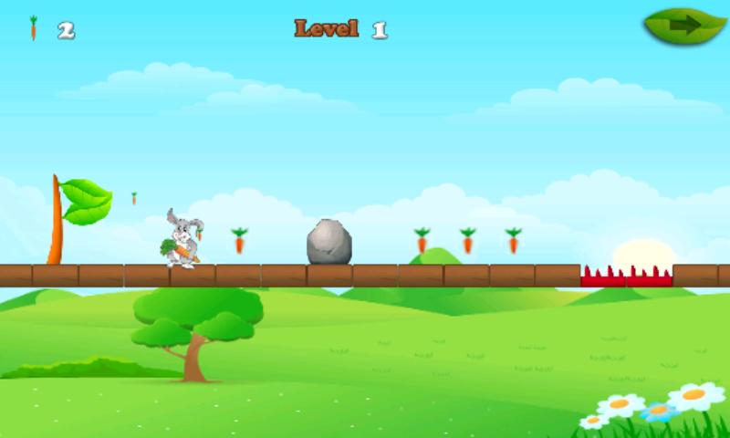 android Rabbit And Carrots Run Game Screenshot 1