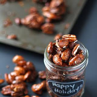 Gingerbread Glazed Roasted Nuts.