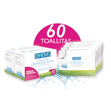 OFERTA DHEMS TOALLITAS   DESMAQUILANTES X 2 UND PRECIO ESPECIAL