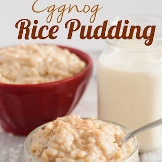 Eggnog Rice Pudding