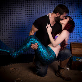 Mer Love by Mel Stratton - People Couples ( love, kiss, couple, tail, mermaid,  )