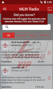 MLW Radio- screenshot thumbnail