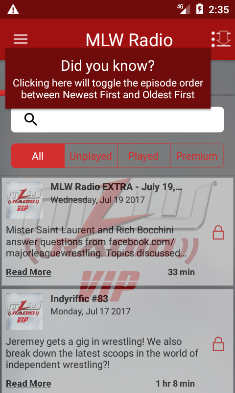 MLW Radio- screenshot