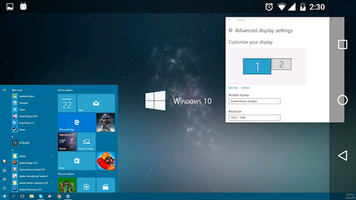 spacedesk (multi monitor display and duet screen) 0.9.41 screenshots 1