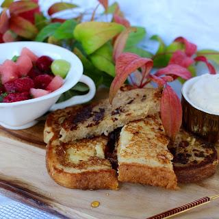 Best French Toast recipe with hazelnut coffee cream