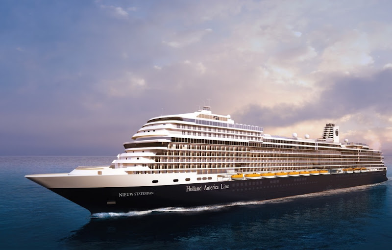 Rendering of Holland America's Nieuw Statendam, set to debut in May 2022.