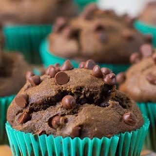 World's Best Dark Chocolate Pumpkin Muffins