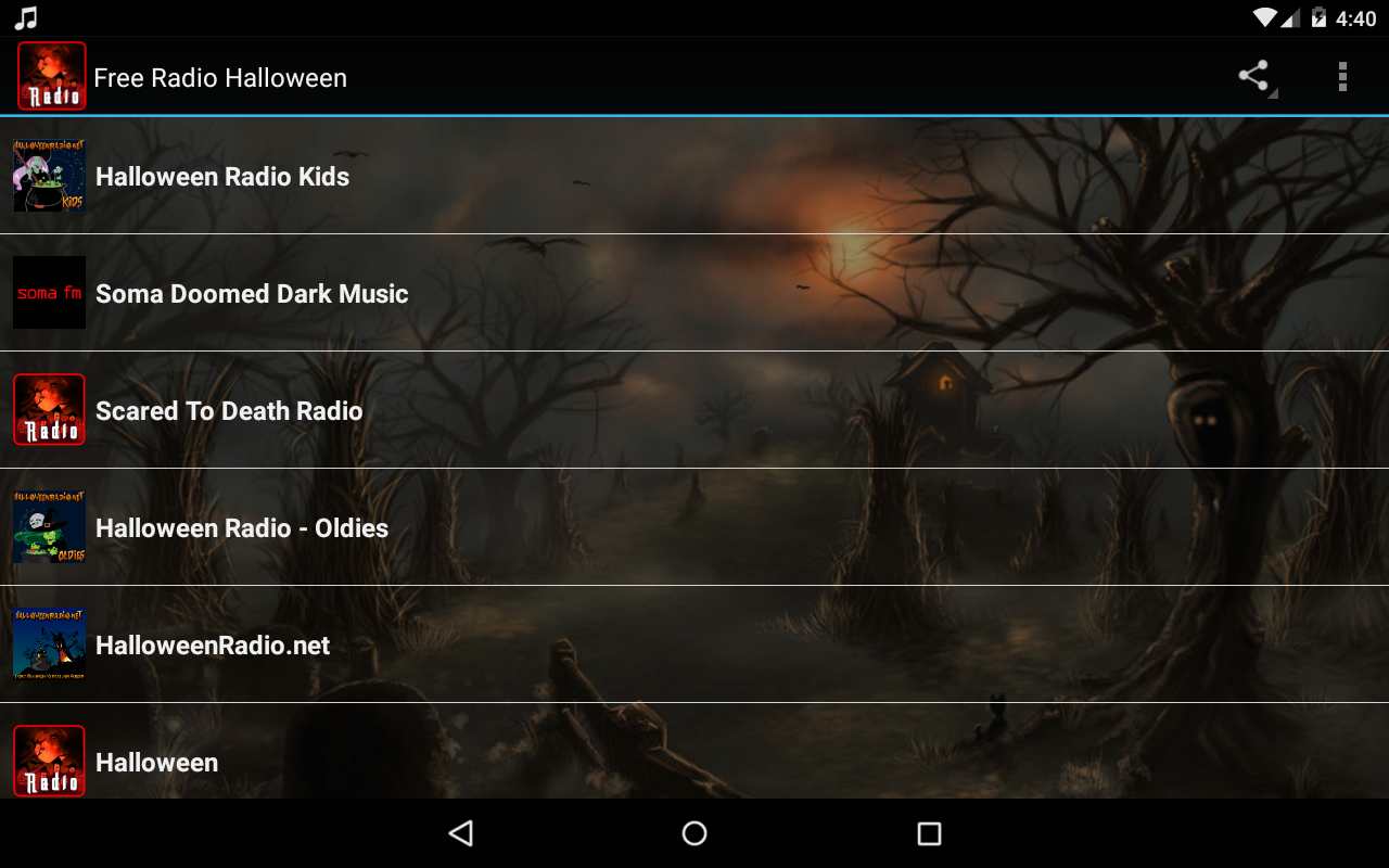 free radio halloween screenshot - Kids Halloween Radio