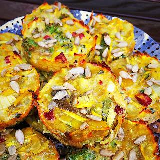 Zucchini, Kale And Sweet Potato Frittata