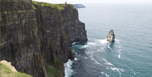 falaise moher Irlande moto